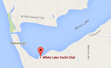 Map to White Lake Sailing School